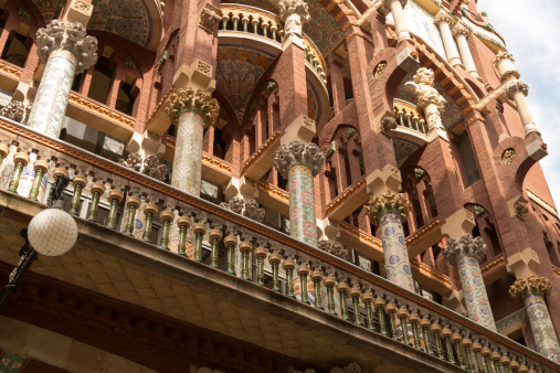 Pillars at the Palace of Catalan Music, Barcelona