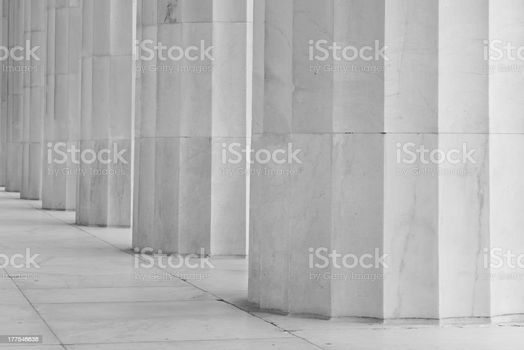 Pillars in a Row royalty-free stock photo