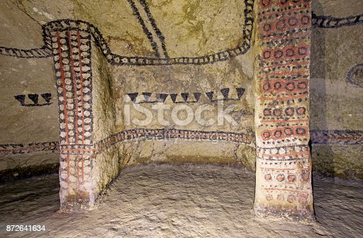 istock Pillars in an ancient tomb, Tierradentro, Colombia 872641634