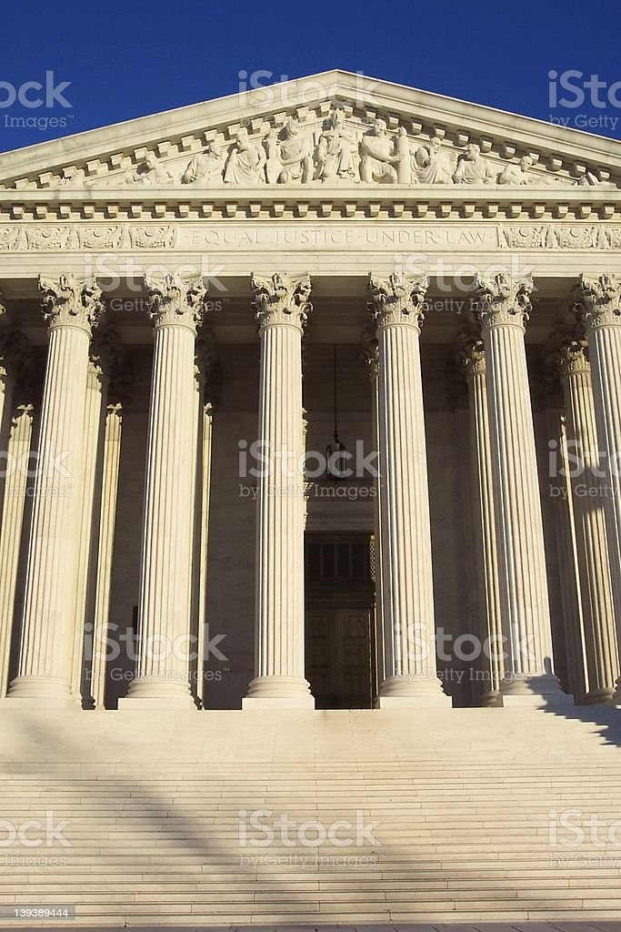 Pillars of Justice royalty-free stock photo