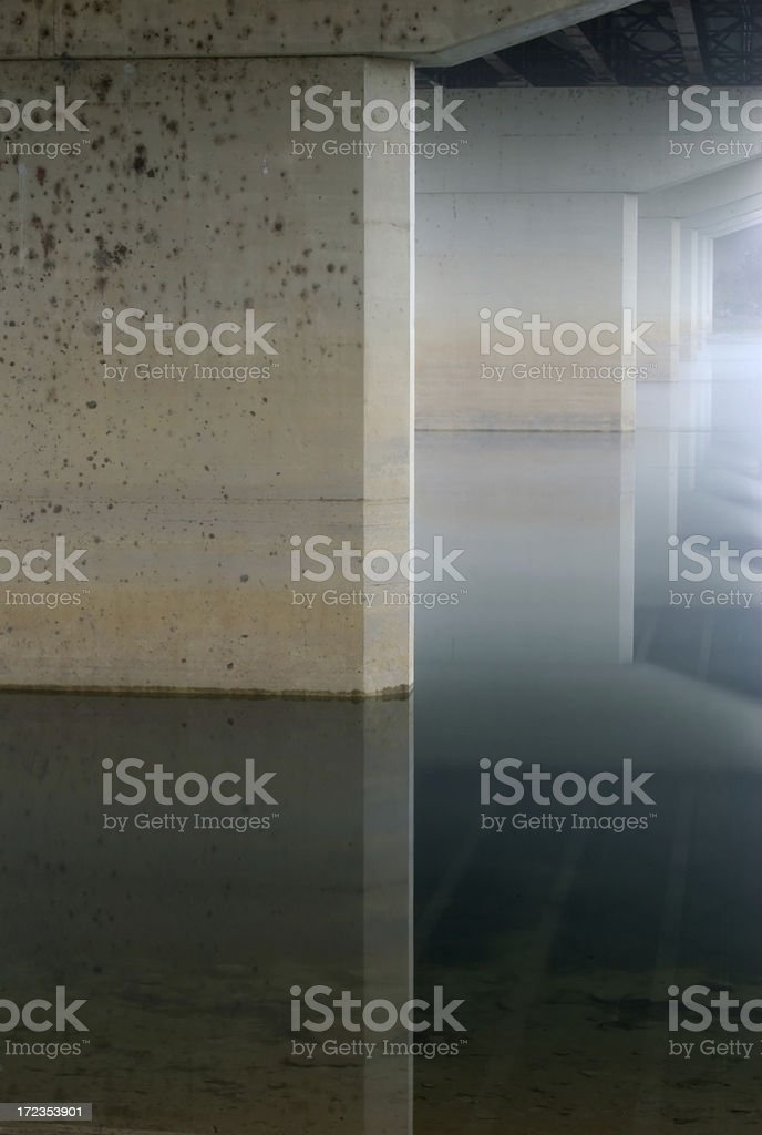Pillars of Reflection royalty-free stock photo