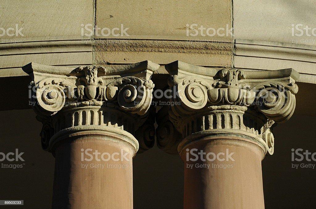 Pillars of the community  Architectural Column Stock Photo