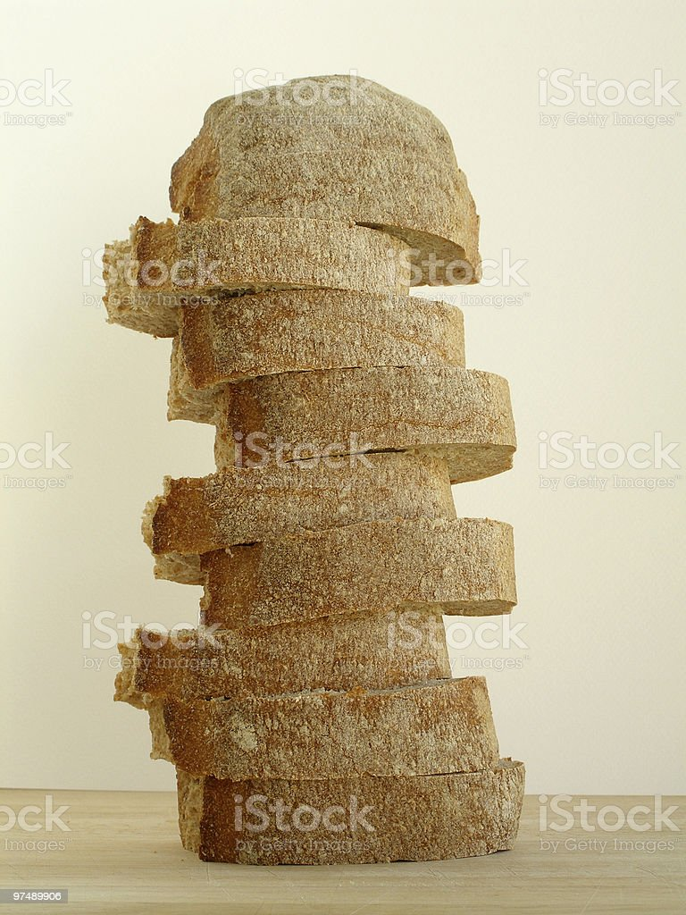 Pilled up bread royalty-free stock photo