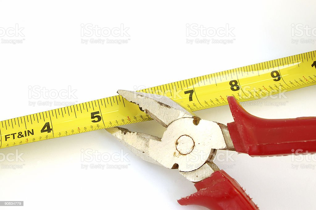 pillers and measure tape #2 stock photo