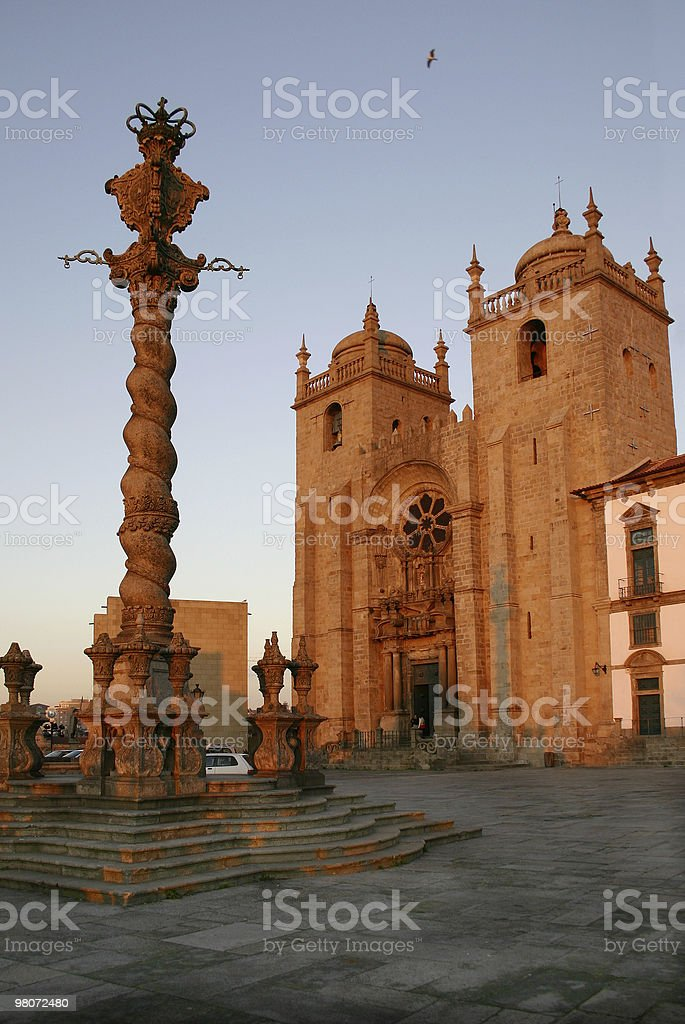 Pillory and the Cathedral royalty-free stock photo