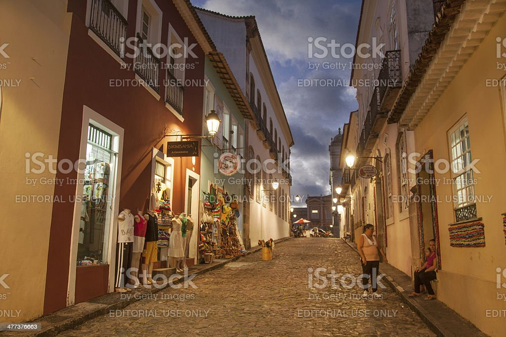 Pelourinho in Salvador, Bahia royalty-free stock photo