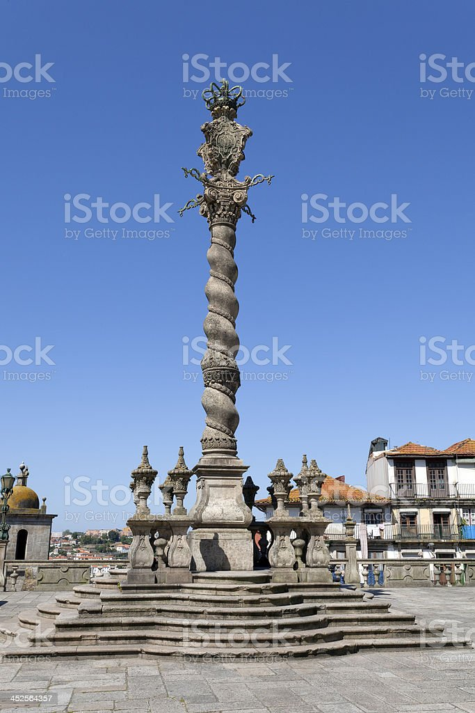 Pillory of the Porto Cathedral stock photo