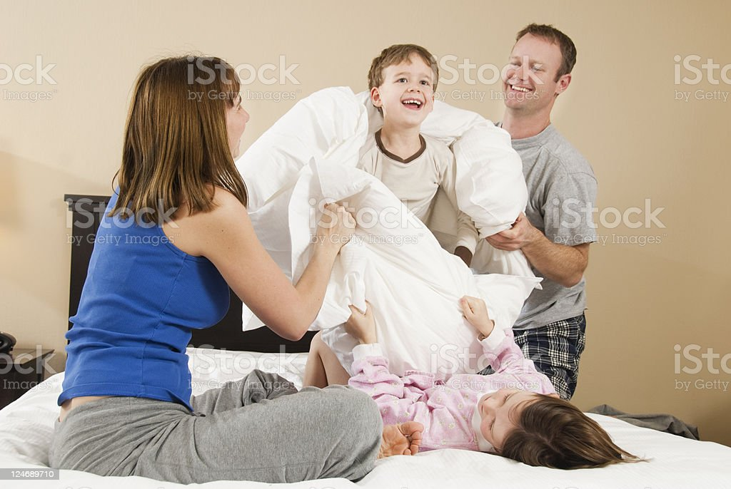 Pillow Fight stock photo