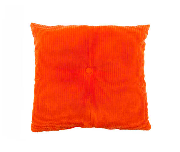 pillow isolated on white - corduroy stock pictures, royalty-free photos & images