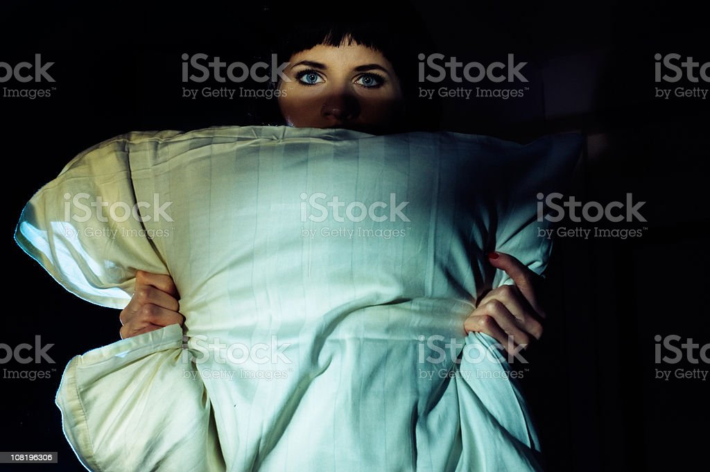 pillow killer stock photo