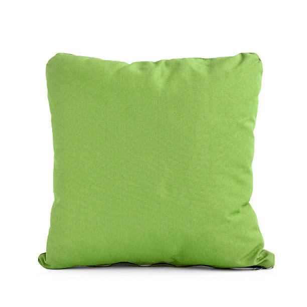 kissen oder kissen in grüner farbe - kissen grün stock-fotos und bilder