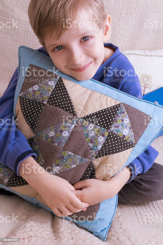 pillow shroud comfort stock photo