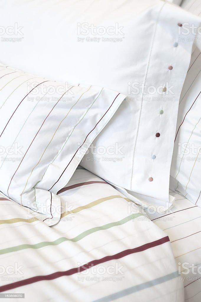 Pillow Stripes royalty-free stock photo