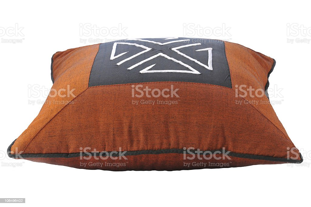 Pillow with ethnic motif royalty-free stock photo