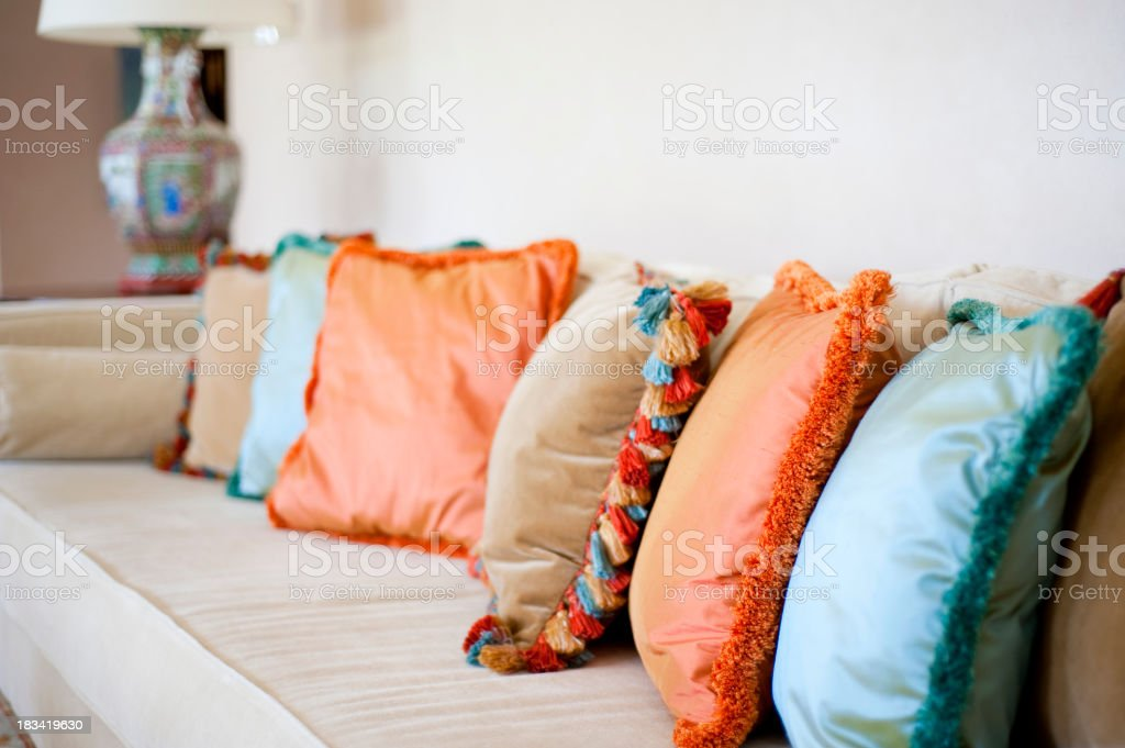 Pillow with vibrant colors. royalty-free stock photo