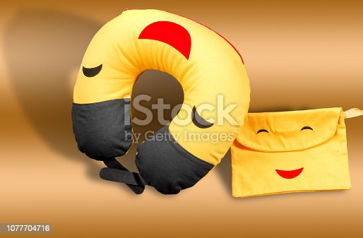 istock Pillows inflatable under the head for traveling in transport 1077704716