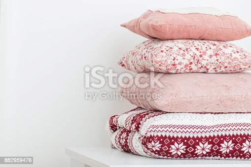 istock pillows on background white wall 882959476