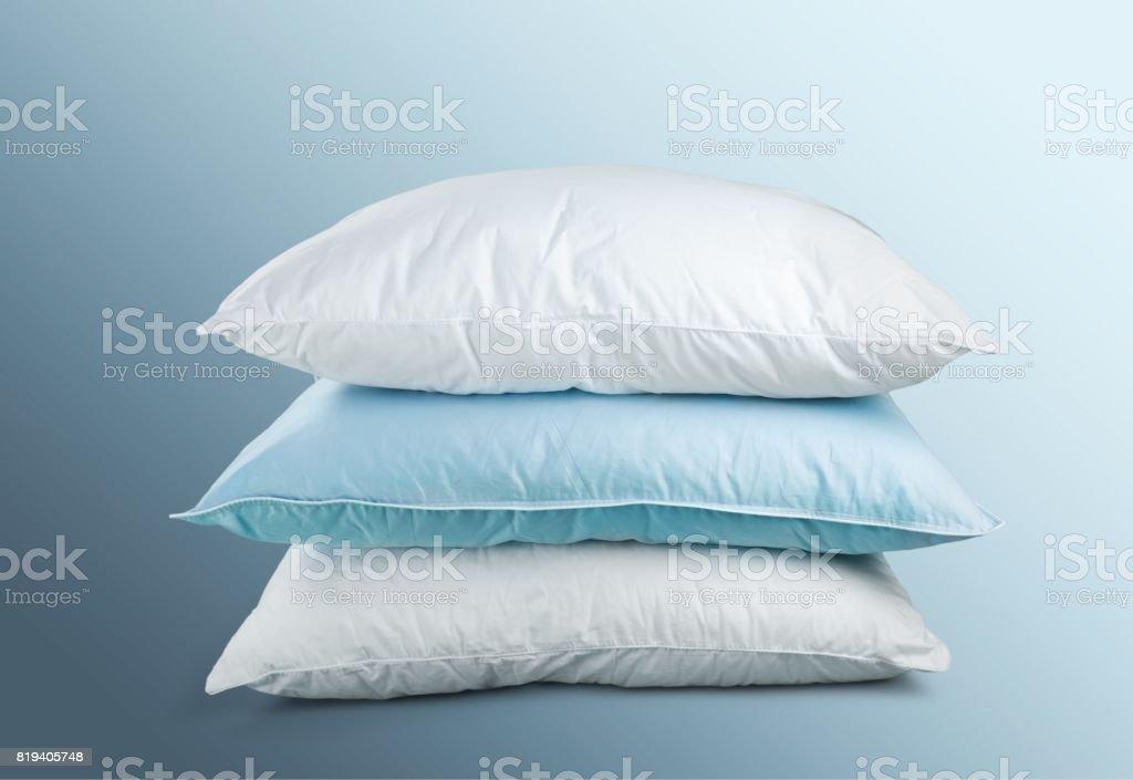 Almohadas de pluma. - foto de stock