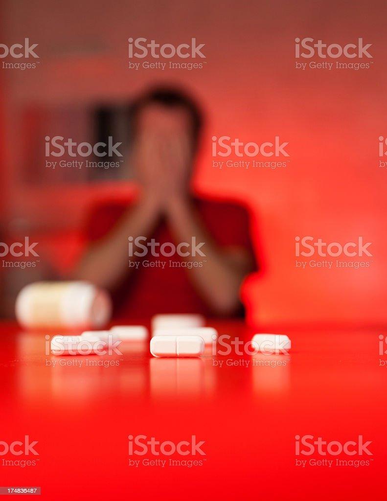 Pills addiction royalty-free stock photo