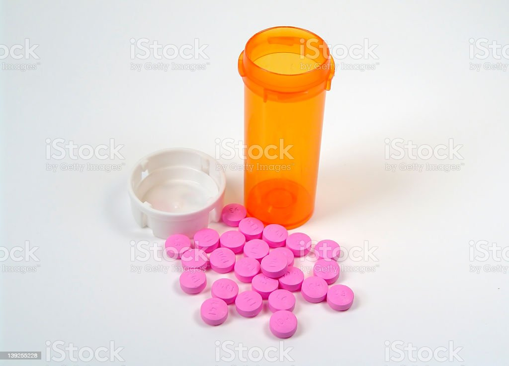 Pills and Bottle stock photo