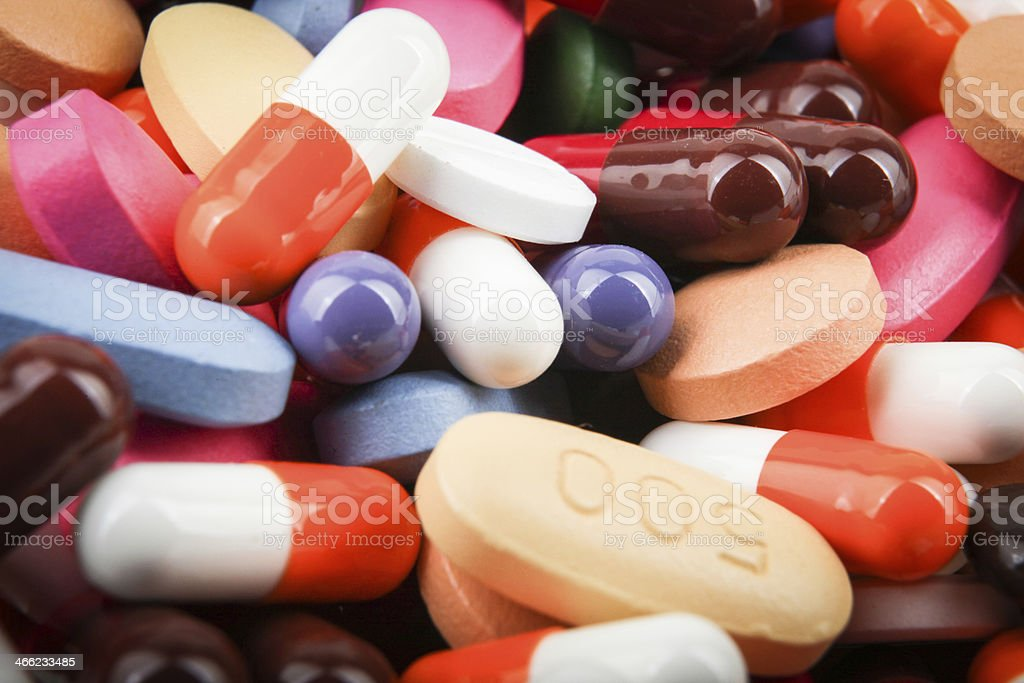 pills and capsules royalty-free stock photo