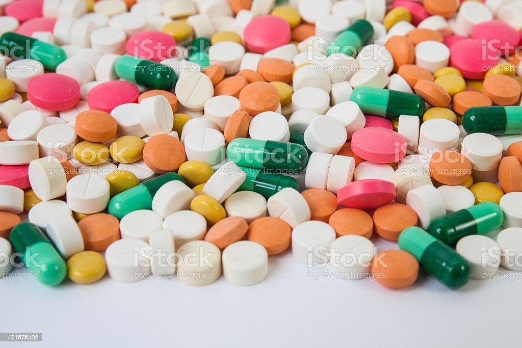 Comprimidos y de las cápsulas - foto de stock