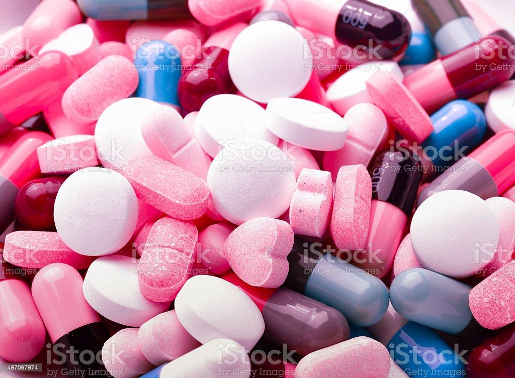 pills and capsules stock photo