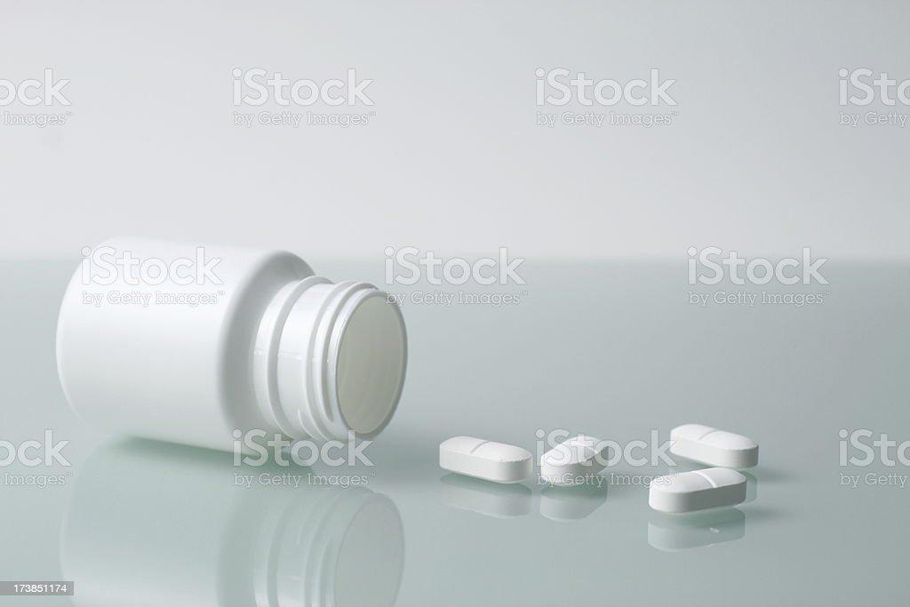 Pills and Pillbox royalty-free stock photo