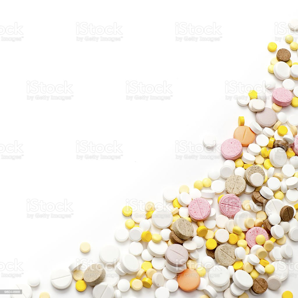 Pills background royalty-free stock photo