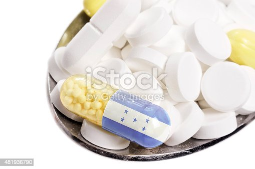 istock Pills & capsule with the flag of Honduras.(series) 481936790