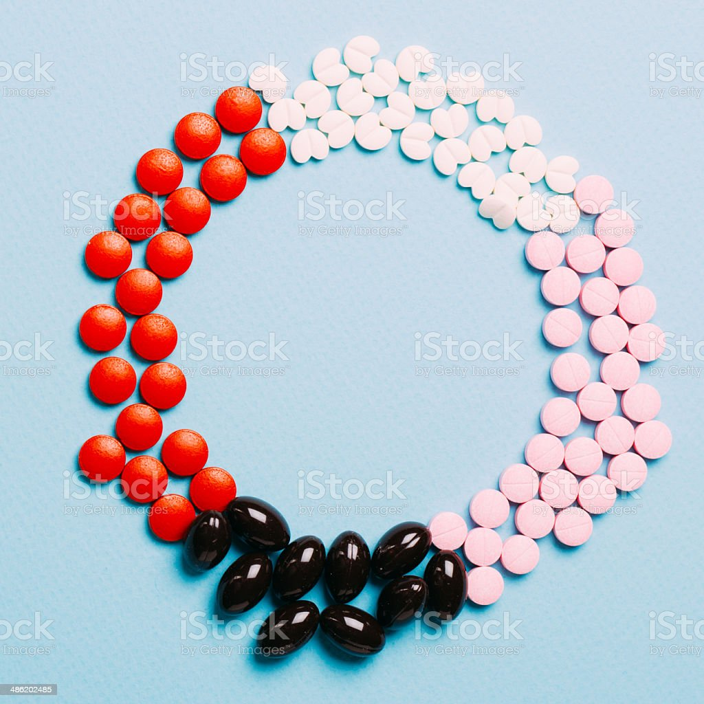 Pills Capsules and Tablets royalty-free stock photo