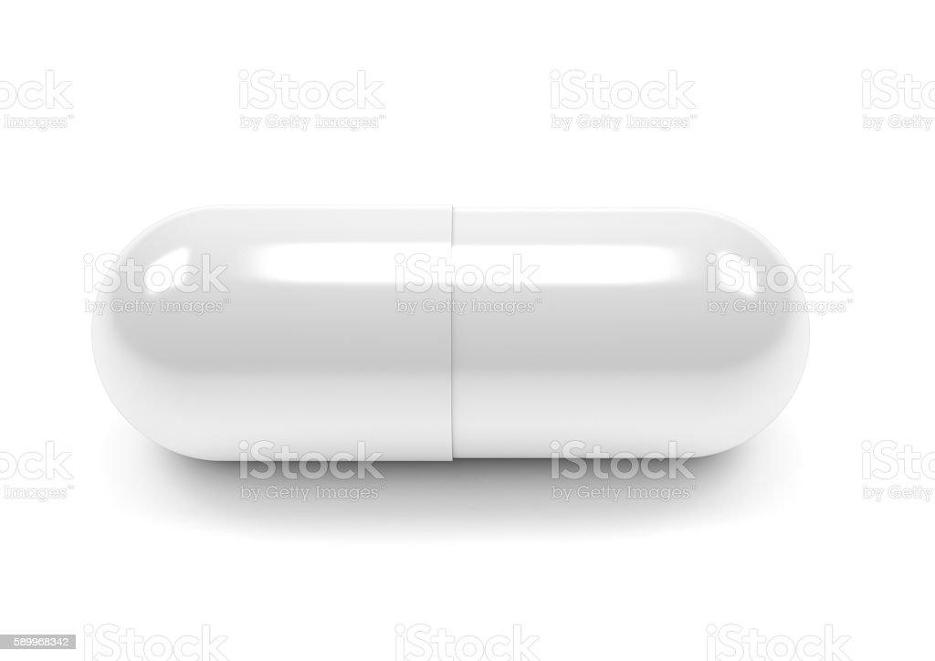 Tabletten Kapseln, isoliert auf weißem Hintergrund – Foto