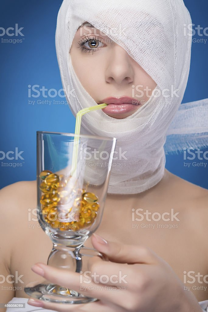 pills cocktail royalty-free stock photo
