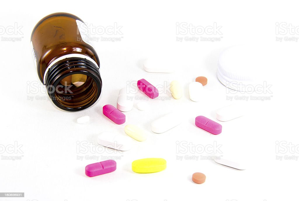 pills fallen out of the box royalty-free stock photo