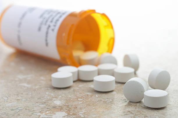 Pills From Prescription Bottle stock photo