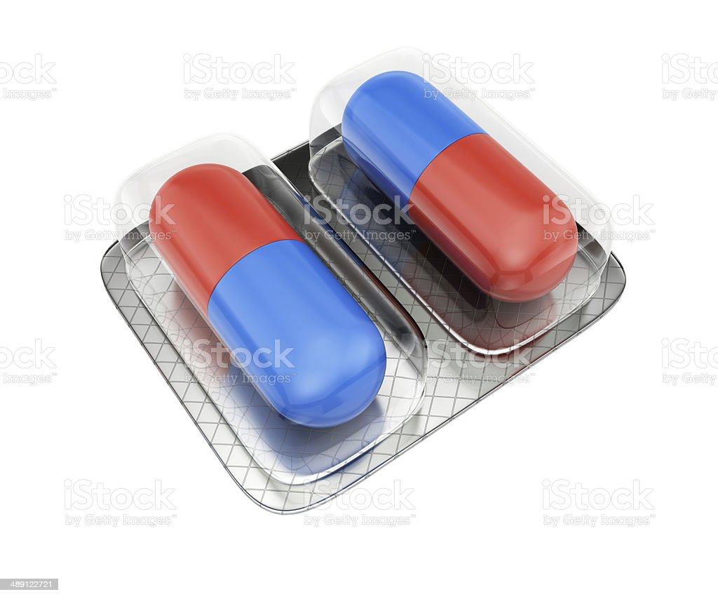 Pills in blister royalty-free stock photo