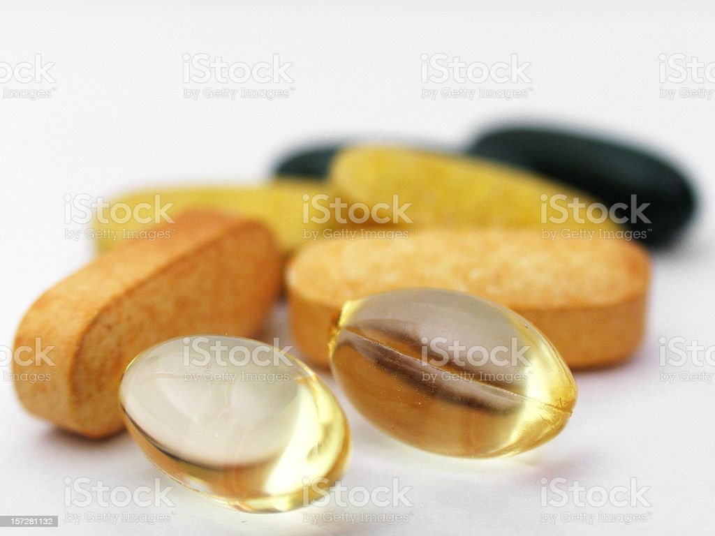 Pills - Isolated 6 royalty-free stock photo