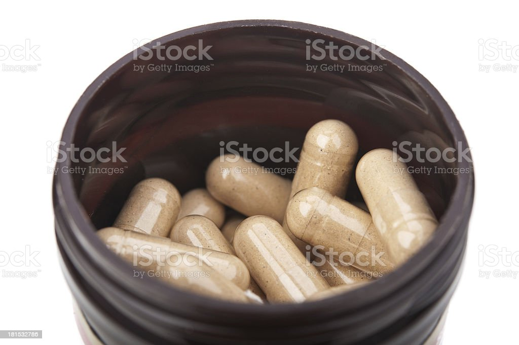 pills isolated royalty-free stock photo