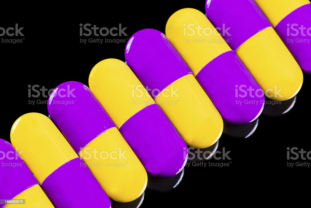 pills on black background royalty-free stock photo