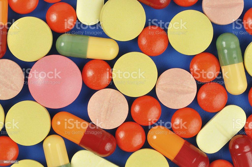 Pills on Blue royalty-free stock photo