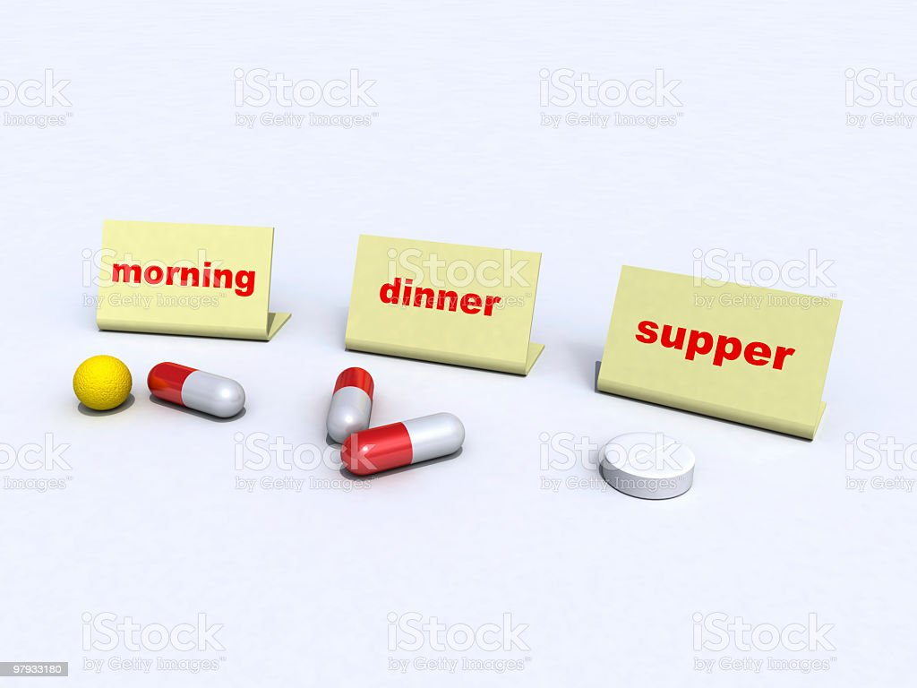 Pills on day royalty-free stock photo