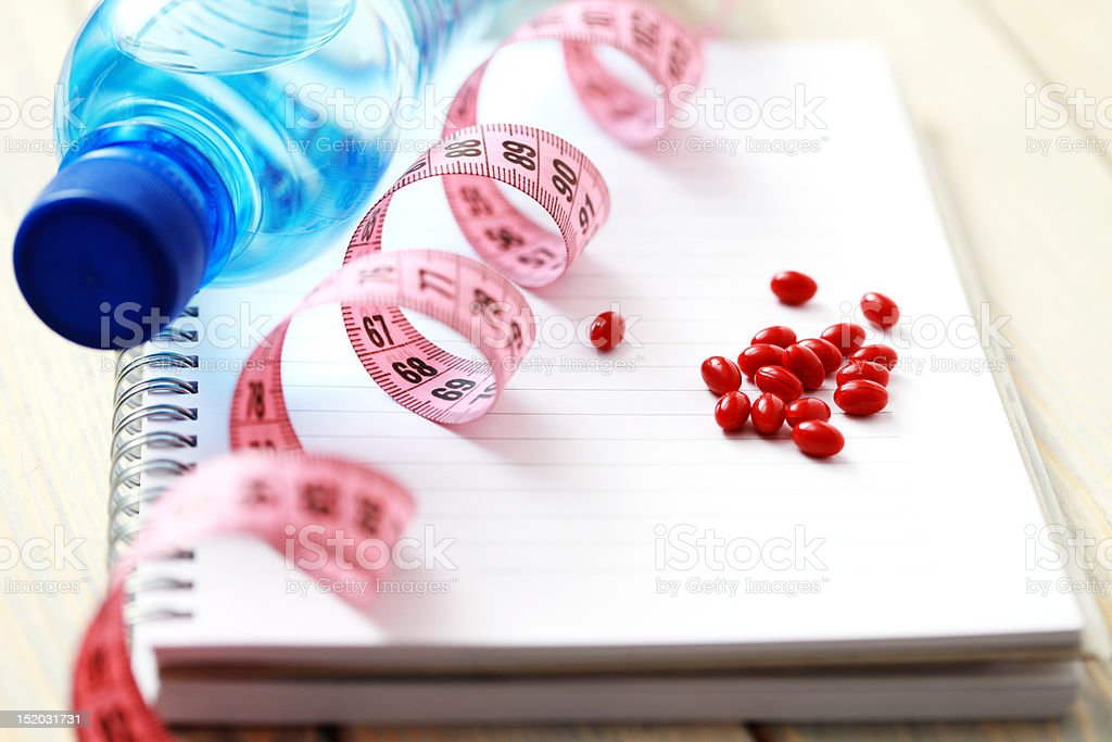 pills on diet royalty-free stock photo