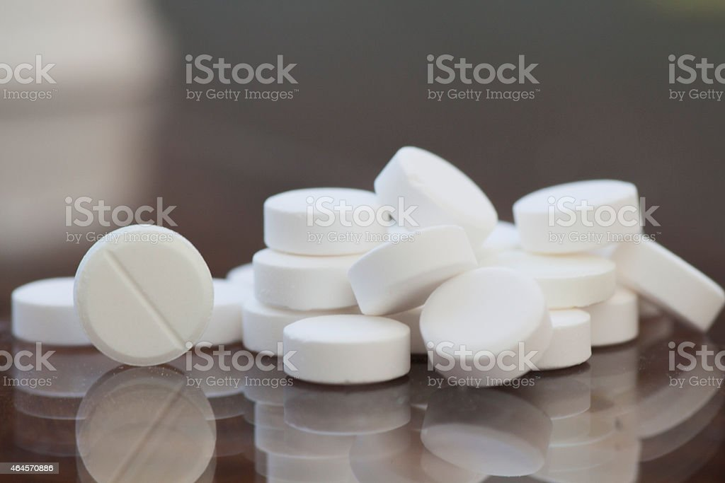 pills on the table stock photo