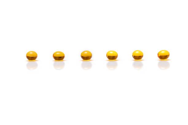 pills on the white background stock photo