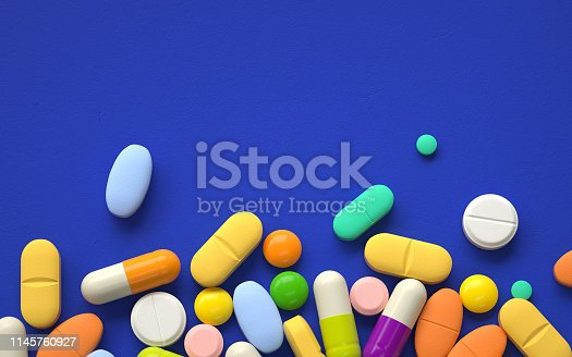 pile of colorful pills,3d rendering,conceptual image.