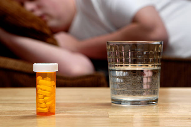 pills - sleeping pill stock photos and pictures