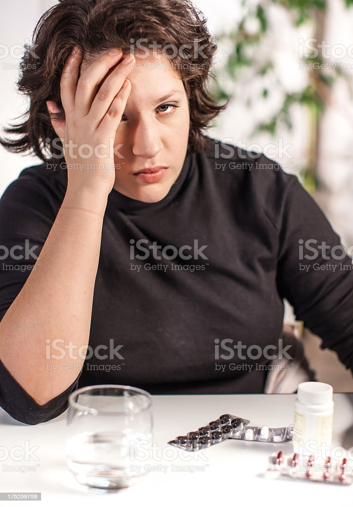 Pills side effects royalty-free stock photo