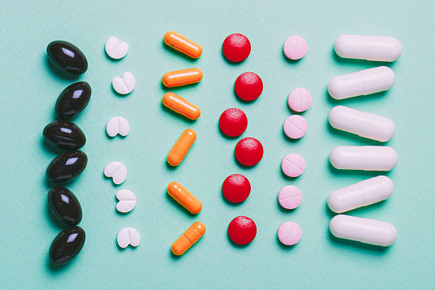 pills tablets capsules - sleeping pill stock photos and pictures