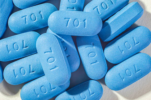 Pills used for HIV Prophylaxis Montreal Canada - October 8, 2015: Pills used for HIV Pre-Exposure Prophylaxis (PrEP). hiv stock pictures, royalty-free photos & images