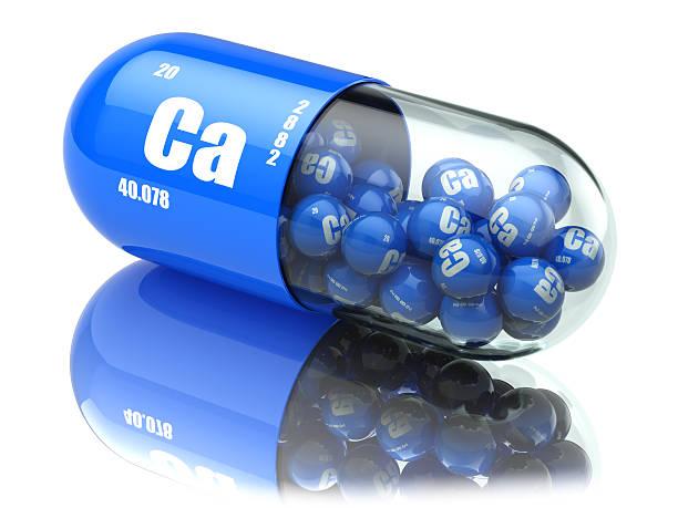 pills with calcio ca element dietary supplements. vitamin capsul - 鈣 個照片及圖片檔